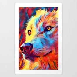 Wolf Portrait 3 Art Print