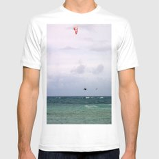 Let's Go Fly a Kite...In The Ocean White Mens Fitted Tee MEDIUM