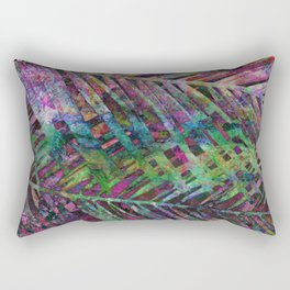 Palms in Multi-Color Rectangular Pillow