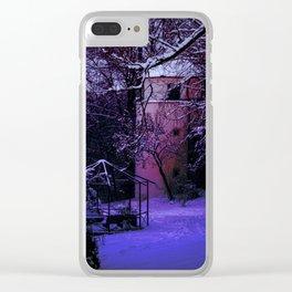 Concept Baden-Wurttemberg : Winter scenery castle park Laupheim Clear iPhone Case