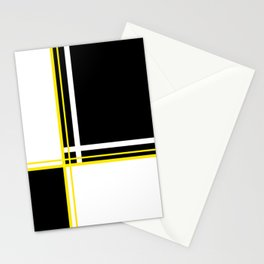 Mod 60's - White Yellow & Black Stationery Cards
