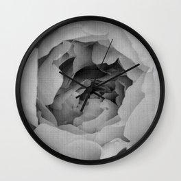 Blak and white rose Wall Clock