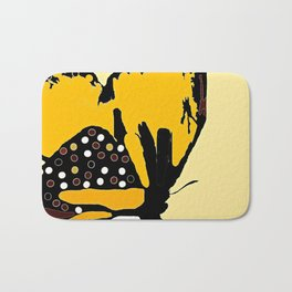 Yellow Butterfly Bath Mat