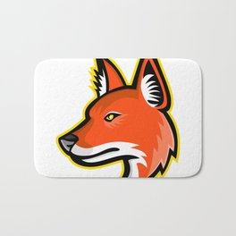 Dhole or Asiatic Wild Dog Mascot Bath Mat