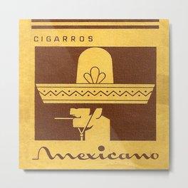 Mexicano - Vintage Cigarette Metal Print