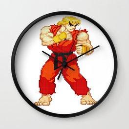 Ken Masters Pixel Art Wall Clock