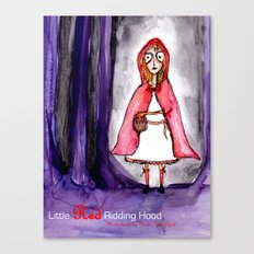 Little Red Ridding Hood Canvas Print