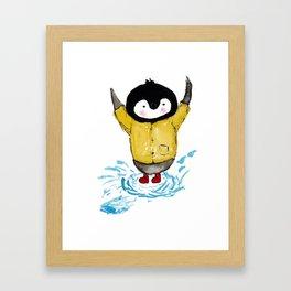 Splashing Kip Framed Art Print