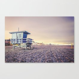 Manhattan Beach Hut Canvas Print