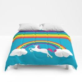 Unicorn Rainbow in the Sky Comforters
