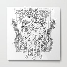 Rival Stag Metal Print
