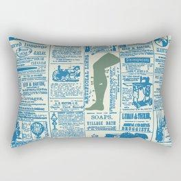 Newspaper blues Rectangular Pillow