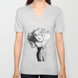 The woman with the head of a rose - Christy Turlington Unisex V-Neck