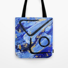 Forearm stand pose abstract Tote Bag
