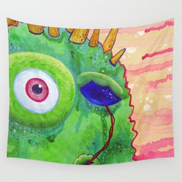 Sometimes I like to Suck my Eyeball when I Think... Wall Tapestry