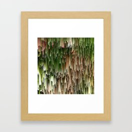 Ever Green Cascade Abstract Framed Art Print