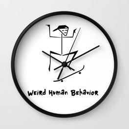Weird Human Behavior - Skateboarding Wall Clock