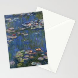 WATER LILIES - CLAUDE MONET Stationery Cards