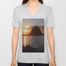 An Amazing Sunset Over First Beach Unisex V-Neck