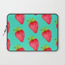 Summer Strawberries ( On Aqua )  Laptop Sleeve