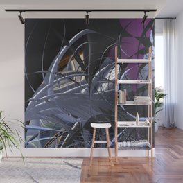 Messy entangled abstract matter Wall Mural