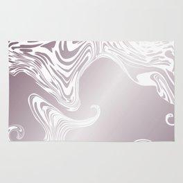 Rose Gold Liquid Marble Effect Design Rug