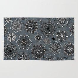 mandala snowflakes metal Rug