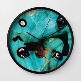 Aqua Teal Art - Volley - Sharon Cummings Wall Clock