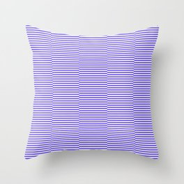 Strips - blue and white. Throw Pillow