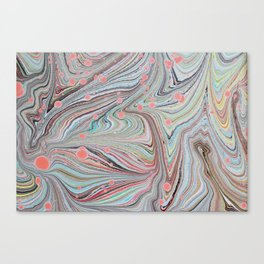 Marbled Multi-color Organic Pattern Canvas Print