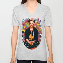 Frida Tropical Unisex V-Neck