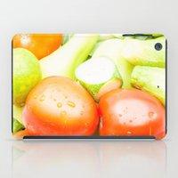 vegetables iPad Cases featuring vegetables by Marcel Derweduwen
