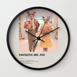 Fantastic Mr. Fox Minimal Movie Poster No 01 Wall Clock
