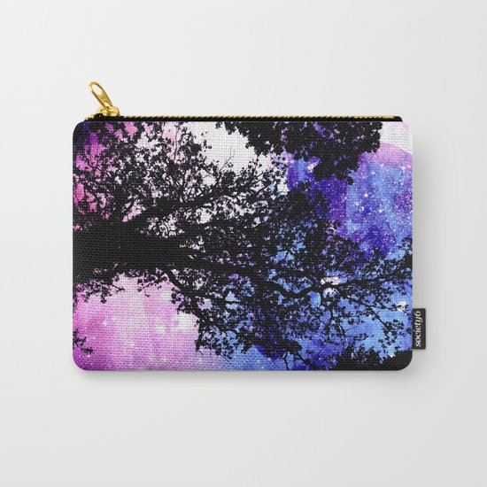 Black Trees Purple Space Carry-All Pouch