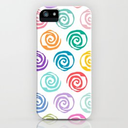Circles Abstract Seamless Pattern iPhone Case