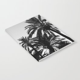 Palm Tree Silhouettes Black and White Notebook