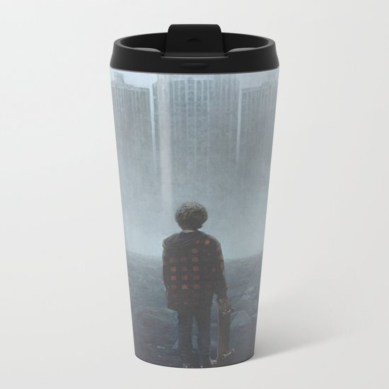 Boy and the Giants Metal Travel Mug