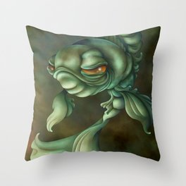 Bad Fish Throw Pillow