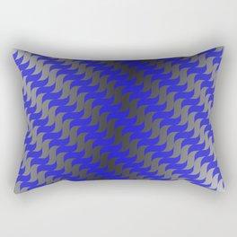 3d Blue Wavy Lines Rectangular Pillow