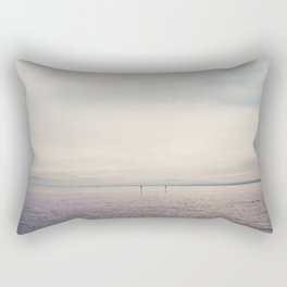 sunset along Lake Constance in Germany ... Rectangular Pillow