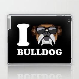 I Love Bulldog modern v2 Laptop & iPad Skin