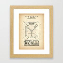 Fluc capacitor vintage Framed Art Print