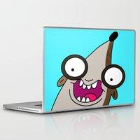 regular show Laptop & iPad Skins featuring Rigby - Regular Show by Rey~