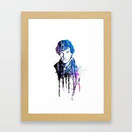 SHERLOCK portrait #WATERCOLOR Framed Art Print