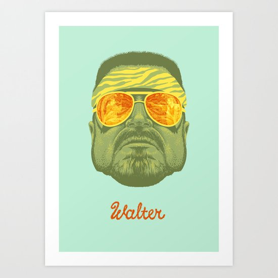 The Lebowski Series: Walter Art Print