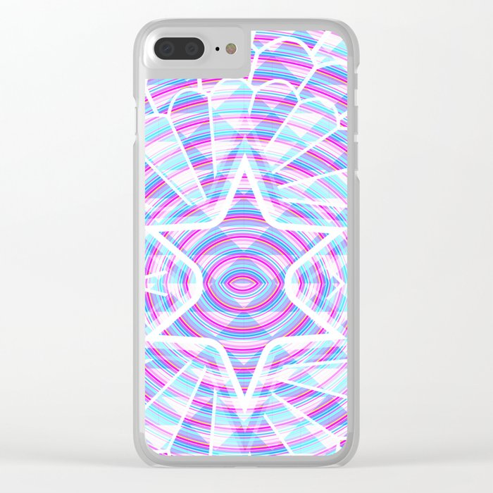 Blue trance Clear iPhone Case
