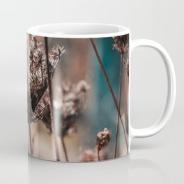Close-up of Wild Dry Plants on a Blurry Background Coffee Mug