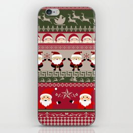 Santa Claus Ugly Sweater iPhone Skin