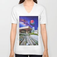 interstellar V-neck T-shirts featuring Interstellar Interstate by John Turck