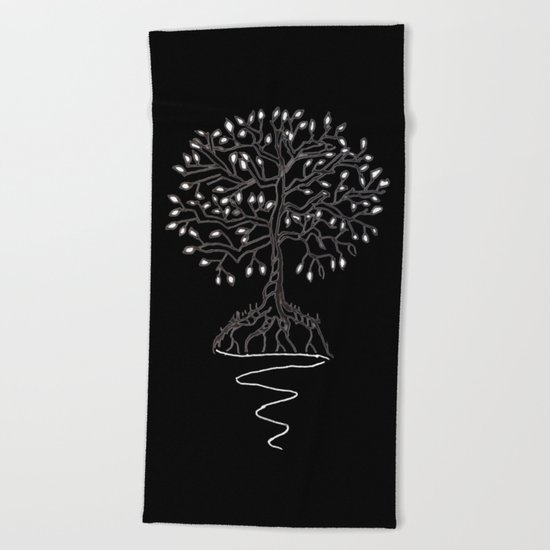 Tree of Life Light Beach Towel